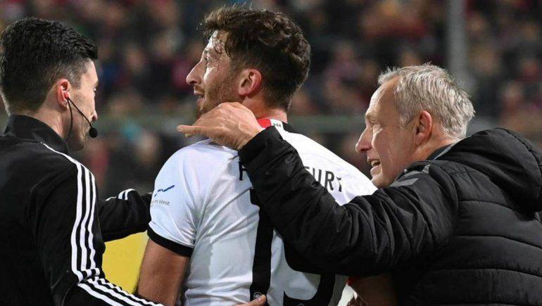Futbolista argentino golpeó a un DT rival y desató una batahola en Alemania