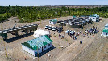 quedo inaugurada la nueva planta de tratamiento cloacal en senillosa