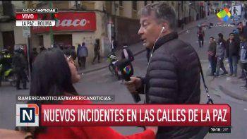 agredieron en vivo al periodista rolando grana en bolivia