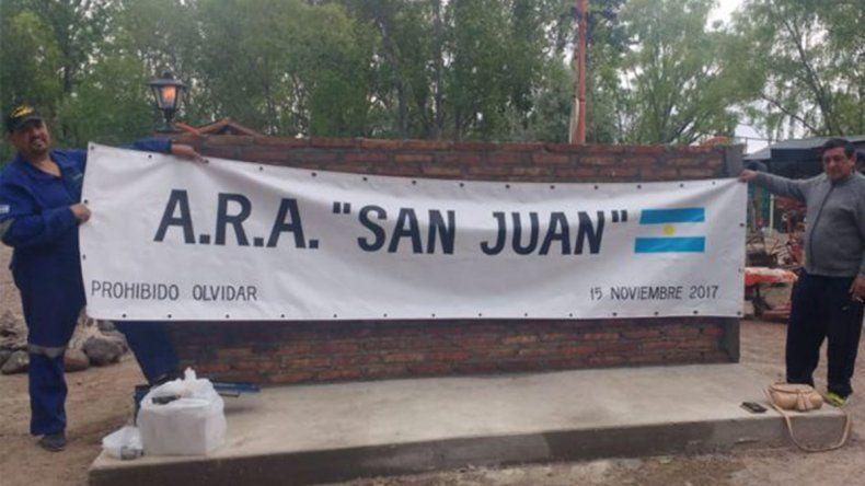 Los 44 del ARA San Juan tendrán un lugar en Vista Alegre