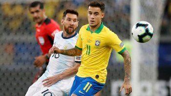 clasico ante brasil con messi y acuna de titulares