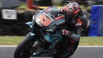 fabio quartararo domino el viernes del moto gp en valencia