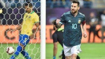 argentina le gano a brasil: messi volvio e hizo el gol del triunfo