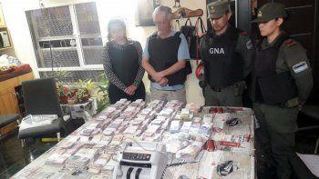 gendarmeria secuestro droga y casi dos millones de pesos
