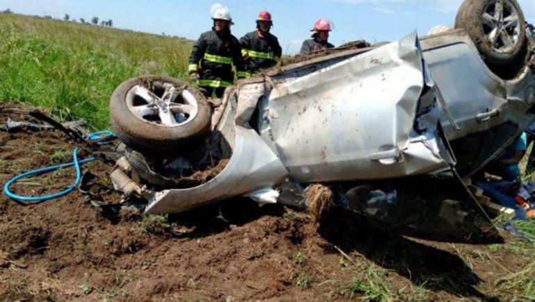 Tragedia: una familia de Cinco Saltos murió en un choque frontal en la Ruta Nacional 33