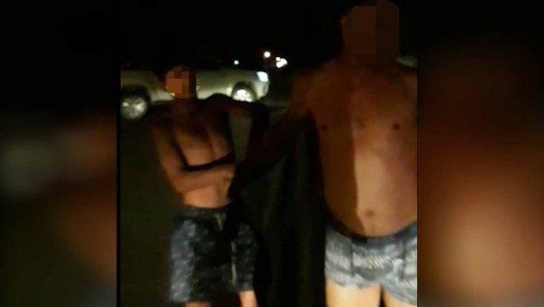 Salvaje ataque: tiraron un televisor a un contenedor y tres hombres las persiguieron y golpearon