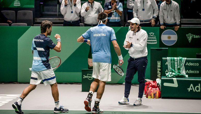 Copa Davis: Argentina barrió a Chile y quedó bien parada