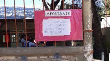 valentina: por los incidentes, suspendieron las clases