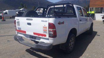 funcionario manejaba camioneta con pedido de secuestro