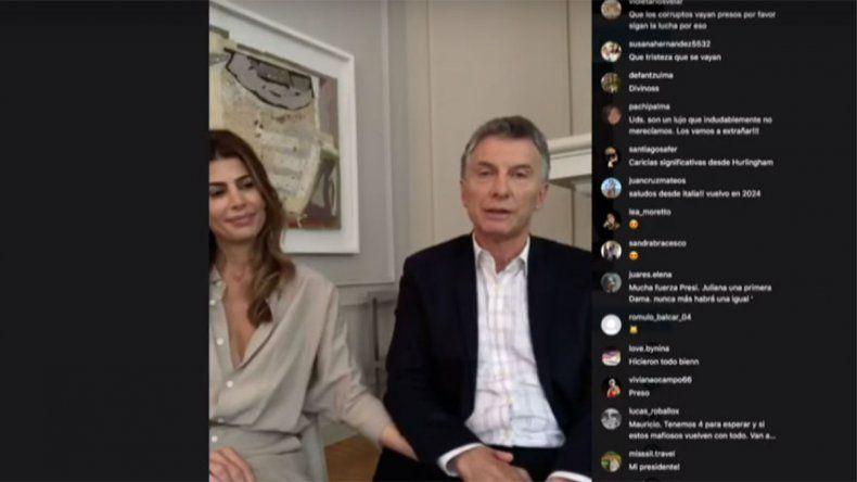 Macri se refirió al futuro gobierno en un vivo de Instagram
