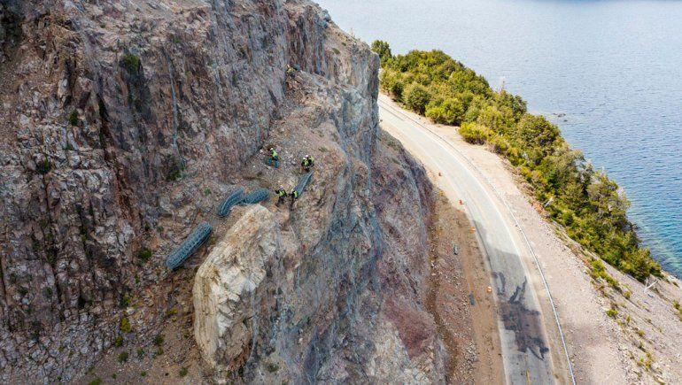 Las tareas de contención de la ladera en el brazo Huemul estarán listas en enero