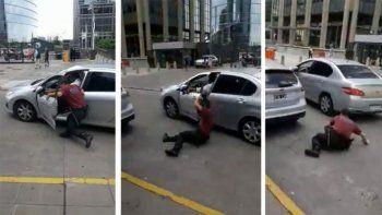 conductor atropello a policia tras negarse al control y fue escrachado