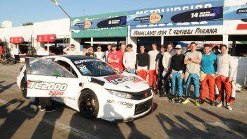 los pilotos giraron con el auto 2020 del super tc2000