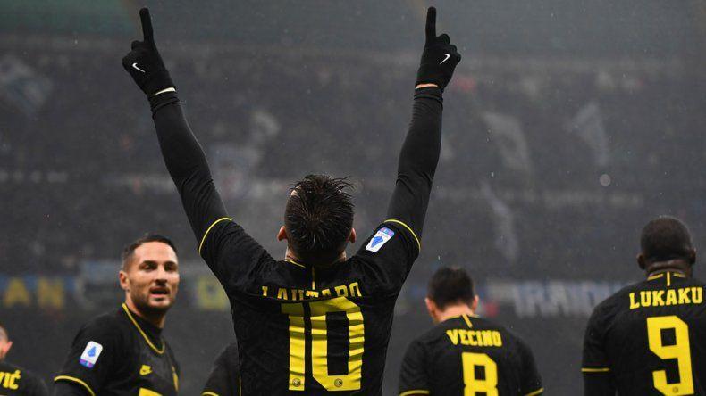 Gracias a Lautaro, el Inter ganó y se convirtió en único líder de la Serie A