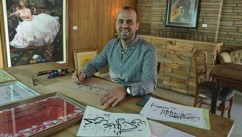 El arte le dio otra vida en la ciudad a un refugiado sirio