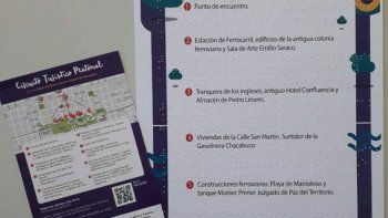 inclusion en eton y parque central: incorporan folletos en braille