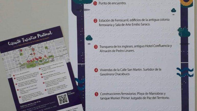 La inclusión llegó a la ETON y el Parque Central: incorporan folletos en braille