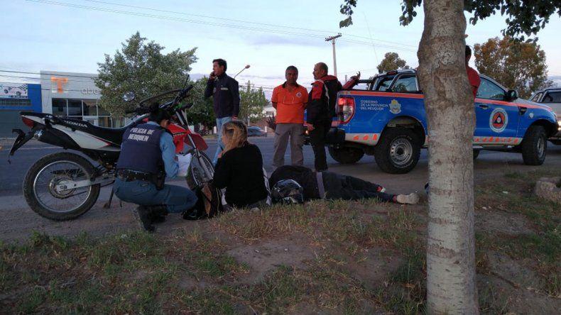 Indignante: chocó a una moto, se dio a la fuga y analizan las cámaras de seguridad para dar con él