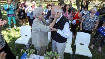 con mas de 80 anos, se juraron amor eterno