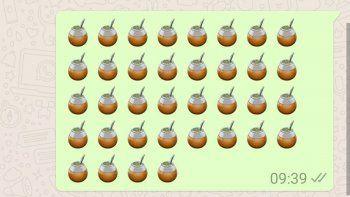 sueno hecho realidad: ya esta el emoji del mate