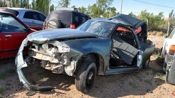 la ranger choco a mas de 100 kilometros por hora al auto del policia amaya