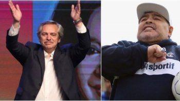 fuerte respaldo de diego al presidente fernandez