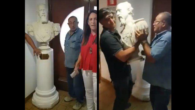 Por respeto al pueblo mapuche, el municipio retiró de los pasillos el busto de General Roca