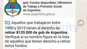 a tener cuidado: un nuevo engano argentino circula en whatsapp