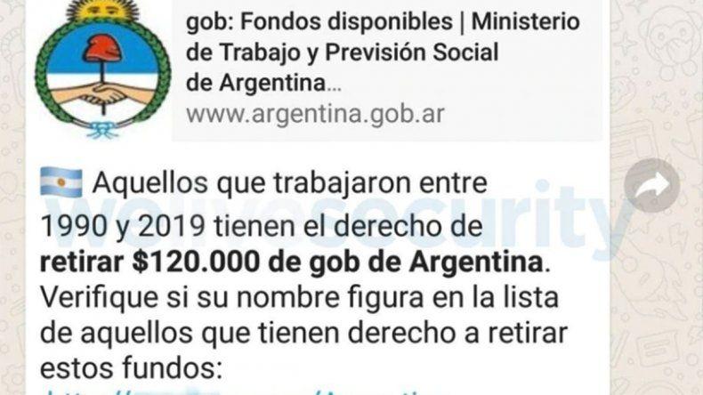 A tener cuidado: un nuevo engaño argentino circula en Whatsapp