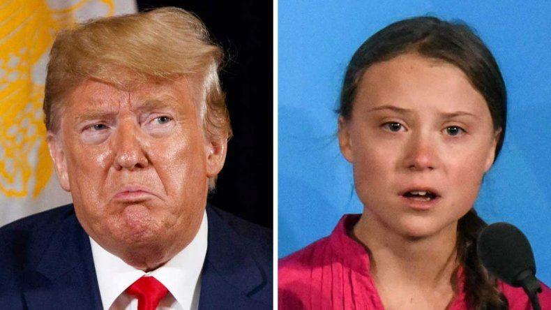 Trump le pidió a Greta Thunberg que se relaje y ella le respondió con ironía
