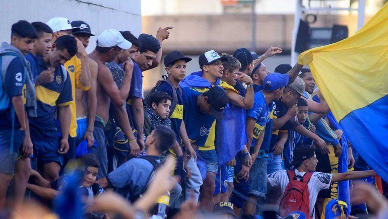 El aguante xeneize en el Día del Hincha de Boca e incidentes en el Obelisco