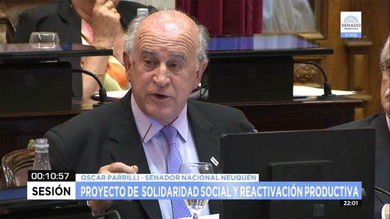 Parrilli aprovechó el debate para acusar al macrismo de persecución política