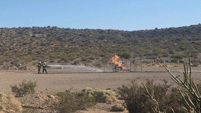 Aseguran que fue controlado el incendio de un pozo maduro de YPF
