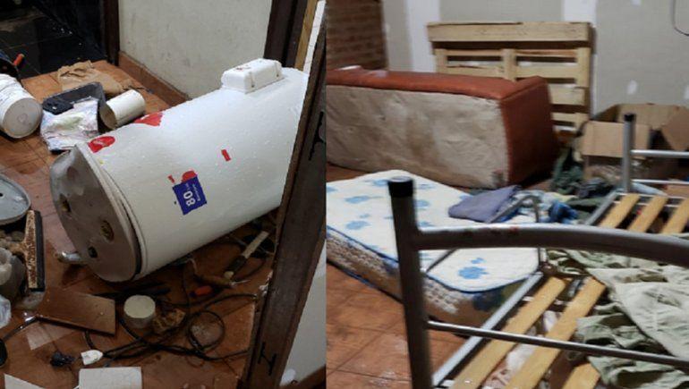Centenario: le robaron por segunda vez y le destrozaron toda la casa