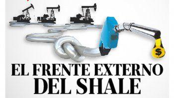 el frente externo del shale