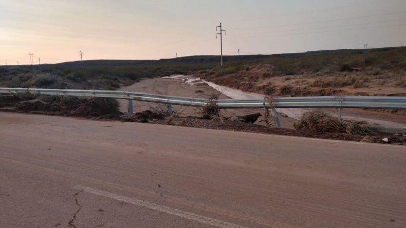 Tras dos días de trabajo, quedó habilitada la Ruta Nacional 237