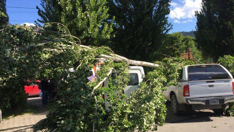 Los fuertes vientos complicaron la actividad turística en la cordillera