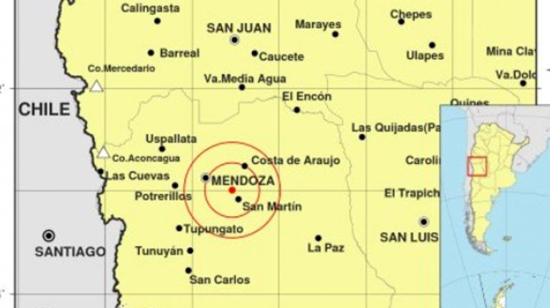Un fuerte sismo hizo temblar Mendoza