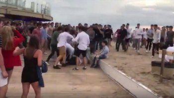 batalla campal a la salida de un boliche en mar del plata