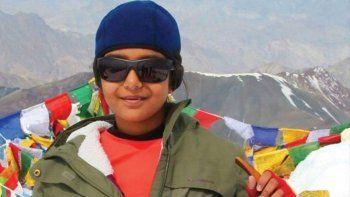 la hindu de 12 anos ya escala el aconcagua