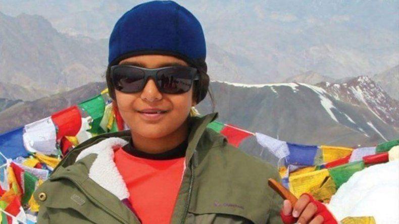 La hindú de 12 años ya escala el Aconcagua