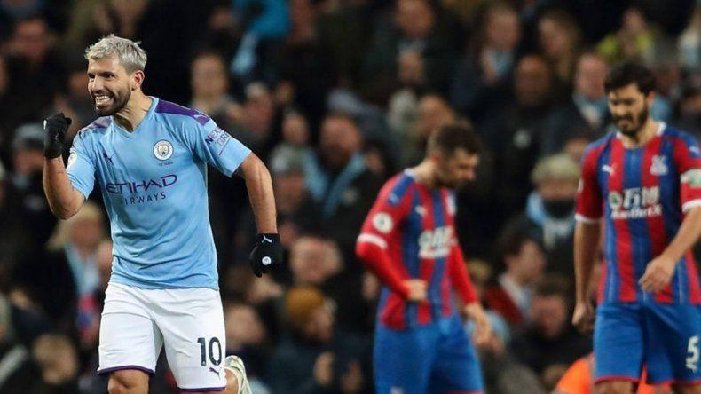 El Kun Agüero ya es el cuarto goleador histórico de la Premier League