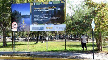 se inaugura hoy el balneario parque en el albino cotro