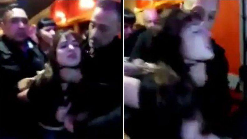 Violento video: patovica ahorcó y empujó a una chica para sacarla de un boliche de Ushuaia