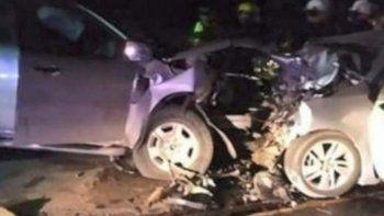 choque frontal en la ruta 11: tres muertos y cuatro heridos
