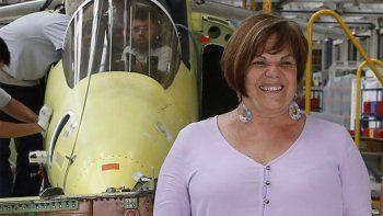 mirta iriondo, la mujer que presidira la fabrica argentina de aviones brigadier san martin sa