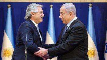 alberto y netanyahu reforzaron el compromiso por el caso amia