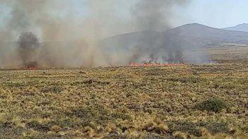 brigadistas controlaron el incendio de pastizales en las lajas
