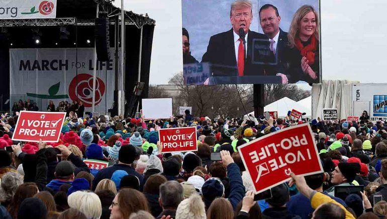 Trump marchó contra el aborto