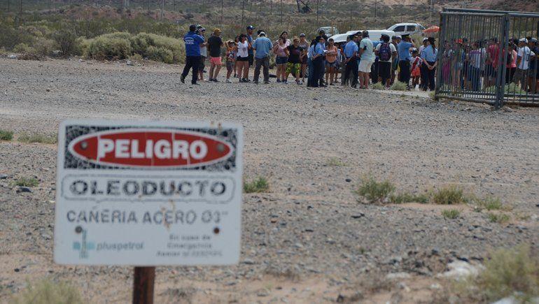 Tensión por una toma de tierras en Bajada Pluspetrol